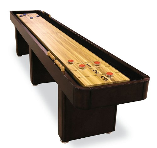 Fairview Game Rooms 12' Shuffleboard Table in Mahogany Finish