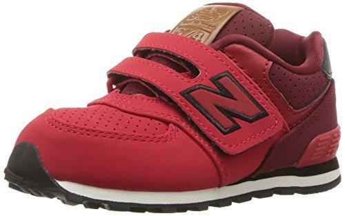 New Balance New Balance, Unisex-Kinder Sneaker, Rot (Red/black), 23.5 EU (6.5 UK Child)