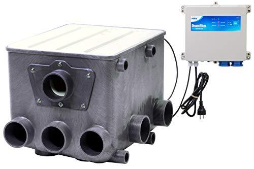AquaForte trommelfilter incl. wit deksel en controller