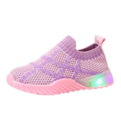 ┃BYEEEt┃ LED Scarpe Bambini Sogliola Lampi di Luce Le Scarpe da Ginnastica Il Ragazzo La Ragazza Scarpe Luminosi Sneakers con Le Luci Accendono Scarpe Sportive