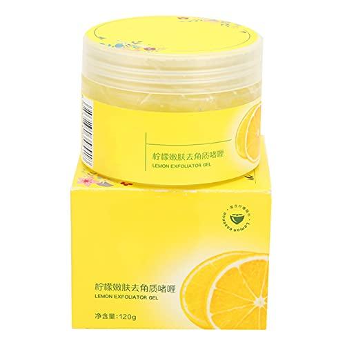 Crema Exfoliante, Limón Gel Exfoliante Corporal Facial Limpieza Profunda Eliminación de Piel Muerta Rica en Extracto de Limón Reponer la Humedad de la Piel Apretar Poros 120g