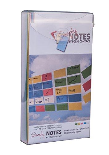 NOPAR Notes by Folio Contact grün/blau/rosa/gelb/weiß, 5001, 100x200mm