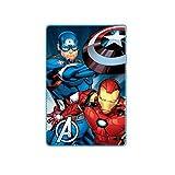 Iron Man - Fleecedecke Decke - Captain America - Avengers - 100 x 150 cm