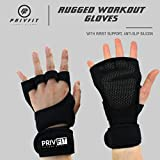 Privfit Men's Women's Full Palm Protection and Extra Grip Weight Lifting Gloves