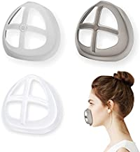 Face Mask Inner Support Frame Homemade Cloth Mask Cool Silicone Bracket More Space for Comfortable Breathing Washable Reusable, 3pcs