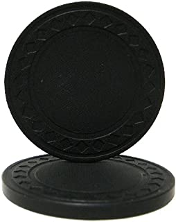Brybelly Diamond Ring Poker Chip 8.5-gram Clay Composite ? Pack of 50 (Black)