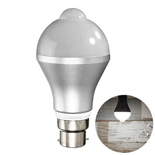 OSALADI 9 watt Motion Sensor glühbirne smart pir led lampen Auto on/Off nachtlichter für treppen Garage korridor gehweg Hof Flur terrasse carport (Pure White)