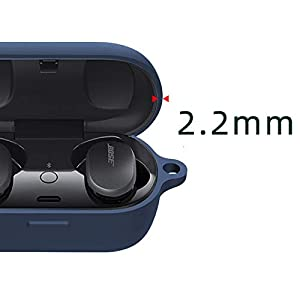 Compatible with Bose QuietComfort Earbuds Case, Youkei Silicone Case Cover Easy Carrying Protective Case Cover Compatible with Bose QuietComfort Noise Cancelling Earbuds (Blue)