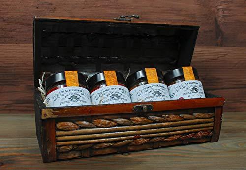 350 g Kräuter-Gewürz Geschenk-Set BBQ Grillset Gewürzset Vatertagsgeschenk Gewürze Gewürzbox