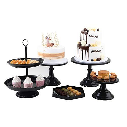 Juego de 5 soportes para tartas de metal, para cupcakes, redondos, para fiestas, bodas, celebraciones, decoración del hogar