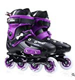 Adult Flat Shoes Skates Skates Roller Skates Men Women Fancy Skates Outdoor Boots Sneaker Athletic Shoes,Purple,42