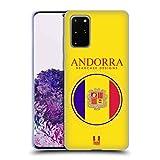 Head Case Designs Bandera De Andorra Remiendos de La Bandera Carcasa de Gel de Silicona Compatible con Samsung Galaxy S20+ / S20+ 5G