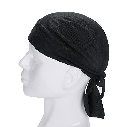 IBLUELOVER - Bandana de ciclismo para hombre y mujer, secado rápido, transpirable, sombrero pirata para proteger la cabeza, bufanda, calota bajo el casco de verano, gorro de bicicleta, moto, running