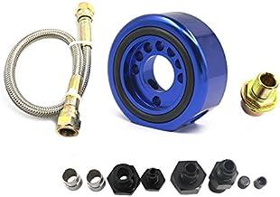 Car Engine Oil Supply Filter Adapter Aluminum Line Conversion Kit Fit for Acura Honda LS B20 Block (Blue)