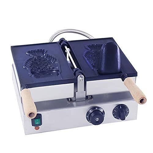 Máquina de gofres de Pastel con Forma de pez eléctrico Comercial, máquina de Aperitivos de Cono de Helado giratoria para Restaurante, Tienda de conveniencia para el hogar