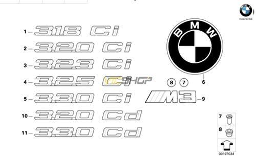 Stemma adesivo posteriore E46-320CD -