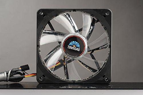 Enermax T.B.Vegas 120MM LED Twister Bearing Technology Cooling Fan UCTVS12P-R, Red