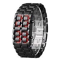 Das elektronische Uhrwerk sorgt für ein genaues und konstantes Timing. LED rote digitale Zeitanzeige. Klar und leicht zu lesen ist dies eine sehr coole Uhr mit einem ganz neuen Konzept, das diese Uhr ähnlichen Produkten voraus ist. Die Uhr ist bis 30...