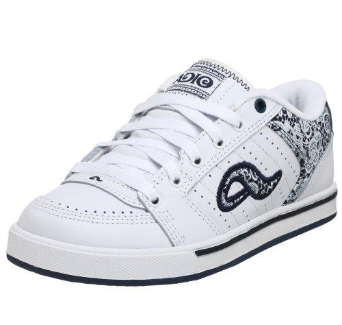 Adio Women's Snap Skate Shoe,White/Indigo/Lace,7.5 M US