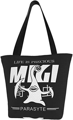 Anime Code Geass Lelouch Lamperouge Tote Bag Riutilizzabile Sacchetti di Spalla Per Regalo Scuola di shopping, (Parasyte Migi La vita è preziosa), Taglia unica