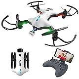 Drohne mit Kamera, 720P HD Drohne Faltbare mit WiFi FPV App, Live Übertragung, Höhe Halten, Headless-Modus, One Key Start/Landung und RTF-Schwerkraftlandung,, AT-146