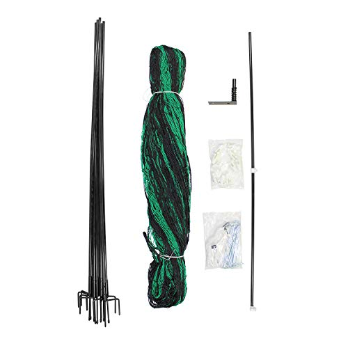 Rural365 Chicken Fence Netting Kit - 69 by 4 Foot Mesh Fencing Garden Net Portable Poultry Fence and 4ft Fence Posts