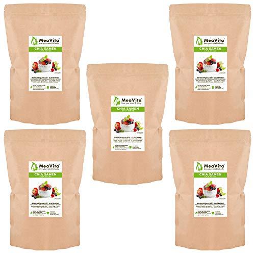 Meavita Semillas De Meavita Chia, Paquete De 5 (5 X 1000G) 5000 g