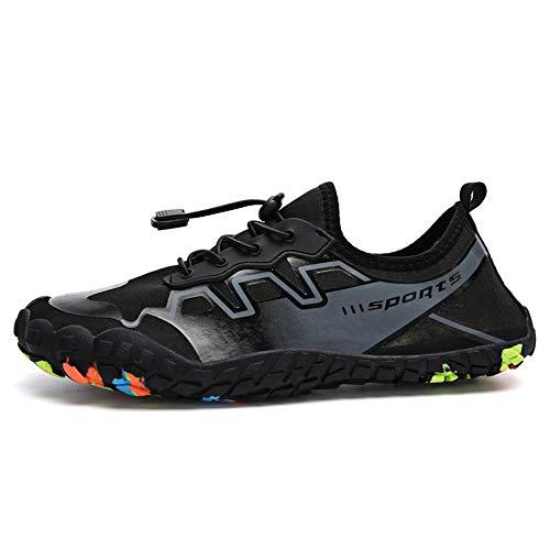 Zapatos de Agua Zapatos de vadeo de los Hombres de Buceo al Aire Libre Zapatos de Mujer Pareja Beach Adecuado para Nadar Surf (Color : Black, Size : 45)