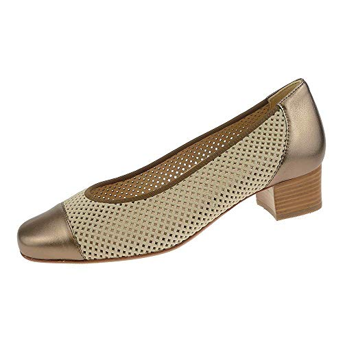 Hassia 93033200470 Evelyn - Zapatos de Mujer de Bronce, Color Marrón, Talla 5.5 UK