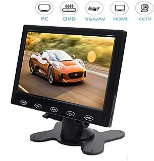 CAIRUTE 7 Inch Ultra Thin 16:9 High-Res 1024x600 TFT LCD Color Monitor HDMI VGA AV Input Video Display Screen for Raspberr...