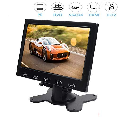 CAIRUTE 7 Inch Ultra Thin 16:9 High-Res 1024600 TFT LCD Color Monitor HDMI VGA AV Input Video Display Screen for Raspberry Pi 3B+ / PC/Home Security/CCTV Camera/Snake Camera/DVR/DVD