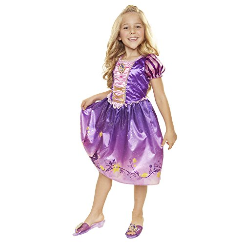 Disney Princess 4315 Rapunzel Explore Your World Dress, Size: 4-6x, Purple/