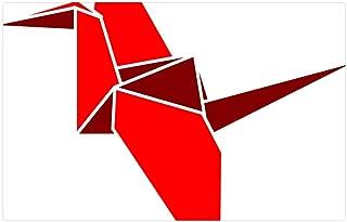 Tree26 Indoor Floor Rug/Mat (23.6 x 15.7 Inch) - Bird Flapping Origami Polygon Polygonal