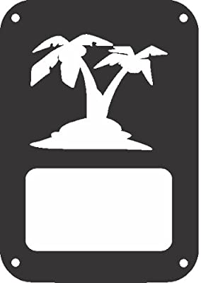 JeepTails Island Palm Tree - Jeep JK Wrangler Tail Lamp Covers - Set of 2