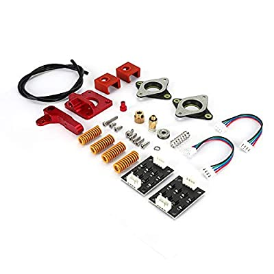 Tosuny 3D Printer Right Extruder Kit,ABS Right Hand Extruder Spring Silicone Case with 42 Motor Damping Plate for Creality Ender 3/Ender 3 Pro.