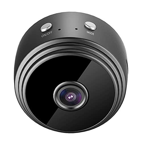 FENGCHUANG Mini cámara espía portátil 1080p, cámara inalámbrica para el hogar, cámara de seguridad niñera, con visión nocturna y detección de movimiento, aplicación de monitoreo remoto en tiempo real