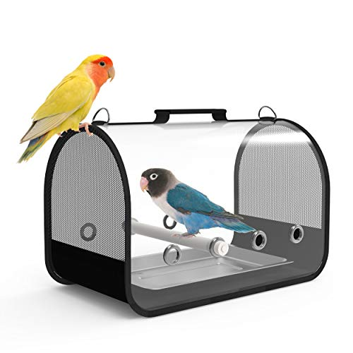 Blue Mars Bird Carrier, Bird Travel Cage Portable&Breathable&Lightweight Pets Birds Travel Cage (Samll)