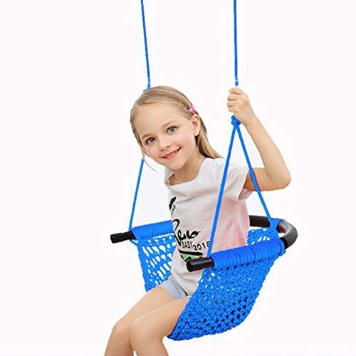 Kinderschommelzitje, Heavy Duty Touwspel Veilige Schommel Voor Kinderen Voor Binnen/Buiten/Speeltuin/Huis/Boom,Blue