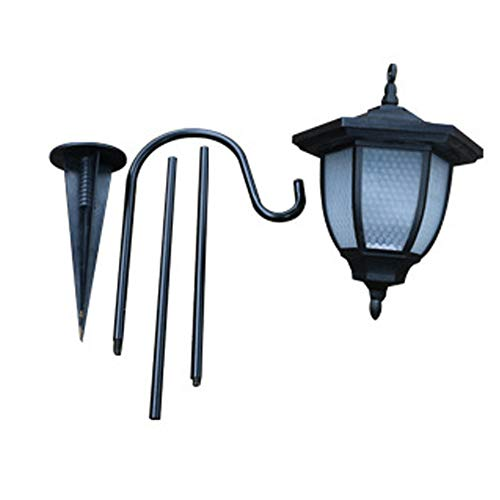 Solaire Lumière Lanterne Suspendue Rue Extérieure Pelouse Sol Insérer Vintage Décoratif Jardin Hexagonal LED Économie D'énergie Étanche Patio Facile Installer