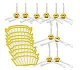 Reposición filtros y Cepillo lateral para iRobot Roomba aspiradora serie 500,531,534,555,564,581-incluyen un conjunto de 20