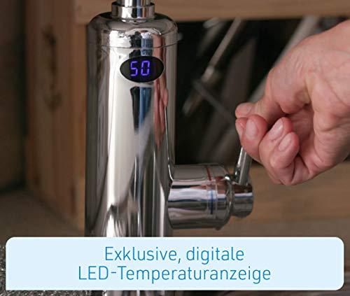 Mediashop Aquadon Smart Heater | Armatur mit integriertem Durchlauferhitzer | 2 Aufsätze | Digitale LED-Temperaturanzeige | Wasserhahn | Boiler | Das Original aus dem TV - 9