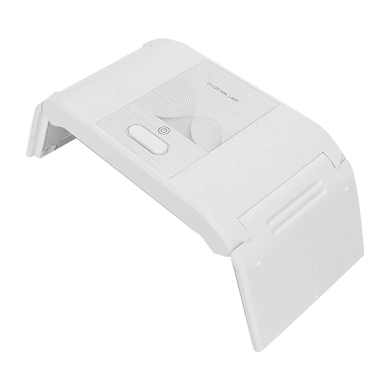 ローマ人トリプルロールネイルドライヤー 24W 折りたたみ ポータブル ネイルランプ USB LEDジェル付きマニキュアドライヤー ネイルアートマシン(02)