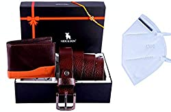 HIDE & SKIN Diwali Gift Hamper for Your Loved Ones - Classic Brown Unisex Leather Card Holder, Multi-Colour led Lights and Auspicious Diya Combo Gift Set - Curiouskeeda