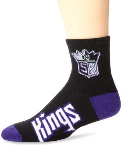 NBA Sacramento Kings Men's Team Quarter Socks, Large