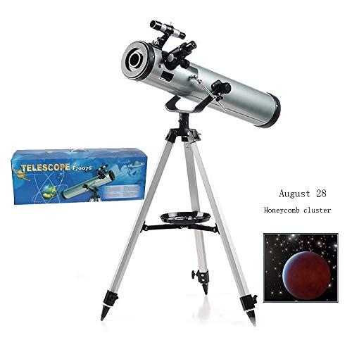 AKEFG Telescopio para Adultos Principiantes para observar Estrellas, Refractor de Distancia Focal de Alcance de Viaje, Buen compañero para Ver la Luna y el Planeta