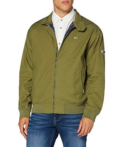 Tommy Jeans Herren TJM Cuffed Cotton Jacket Jacke, Grün (Uniform Olive), X-Small