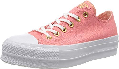 Converse Damen Chuck Taylor All Star Lift OX Sneaker, Pink (korall/Gold korall/Gold), 40 EU
