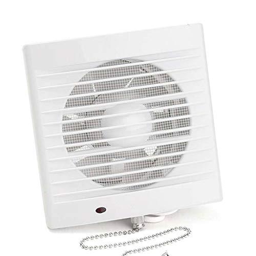 XZJJZ Extractor silencioso de Tipo Ventana para el hogar de 16W 220V 5 Pulgadas Ventilador de ventilación de Pared de Vidrio para Hotel