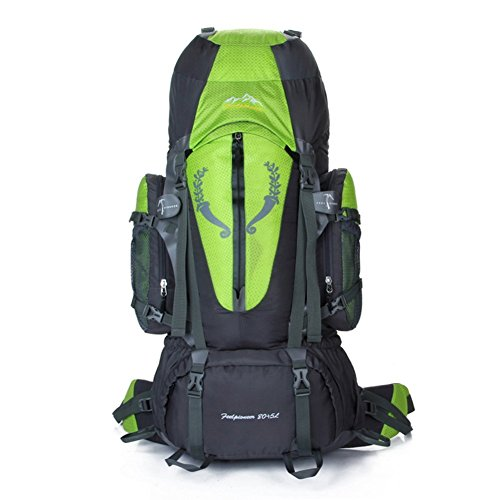 Backpack éclairage Grande contenance Sac à Dos d'alpinisme/Sports de Plein air Sac/Sacs/Sac à Dos de Camping 80l-Green 90L