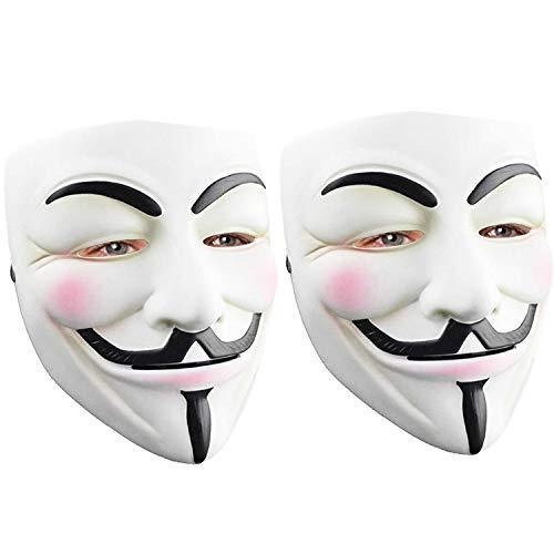 Hacker Mask for Halloween Costume - V for Vendetta Mask Anonymous Guy Mask for Kids Adult